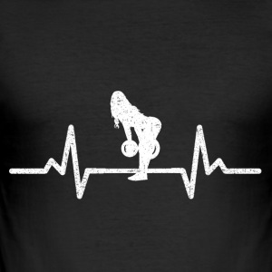 MY HEART BEATS FOR THE PUMP! (GYM WOMAN!) - Men's Slim Fit T-Shirt