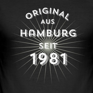 Original from Hamburg since 1981 - Men's Slim Fit T-Shirt