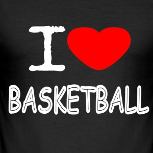 I LOVE BASKETBALL - Männer Slim Fit T-Shirt