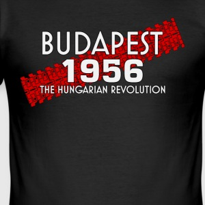 Budapest 1956, hungarian revolution soviet - Men's Slim Fit T-Shirt