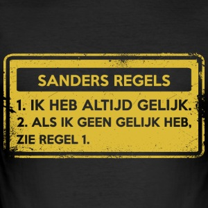 Sanders regler. Original gave. - Slim Fit T-skjorte for menn