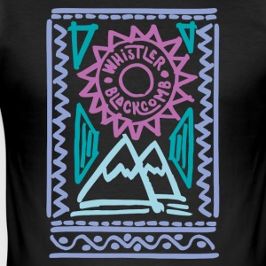 Whistler Blackcomb retro - Slim Fit T-shirt herr