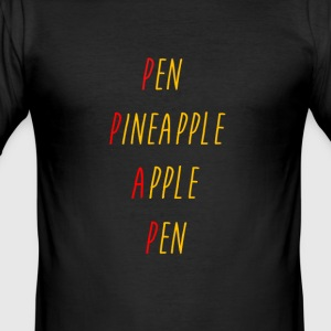 stylo-ananas-apple-stylo - Tee shirt près du corps Homme