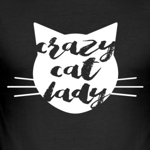Crazy Cat Woman - Slim Fit T-skjorte for menn