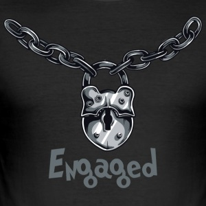 Engaged Chained - Men's Slim Fit T-Shirt