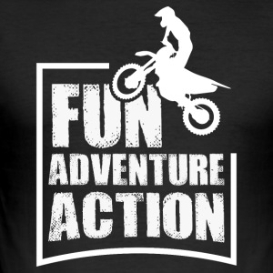 Enduro FUN eventyr action - Herre Slim Fit T-Shirt