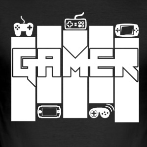 Gamer - Gamers Passion - Slim Fit T-skjorte for menn