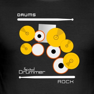 White Rock Drums - Slim Fit T-skjorte for menn
