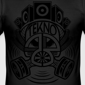 Tekno 23 gas mask - Men's Slim Fit T-Shirt