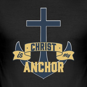 Christ my Anchor - Men's Slim Fit T-Shirt