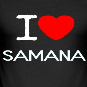 I LOVE SAMANA - Männer Slim Fit T-Shirt