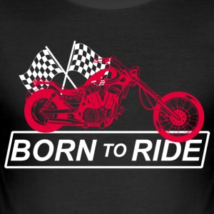 Motorcycle biker birthday - Men's Slim Fit T-Shirt