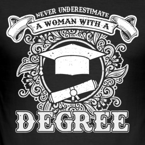 No educated woman - Men's Slim Fit T-Shirt