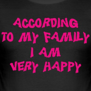 Funny Mor Far Hustru Husband Quote - Herre Slim Fit T-Shirt