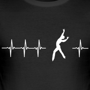 I love figure skating (heartbeat) - Men's Slim Fit T-Shirt