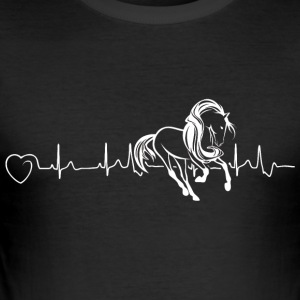 Horses are my heartbeat - Men's Slim Fit T-Shirt