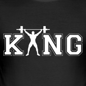 bodybuilder Koning - slim fit T-shirt