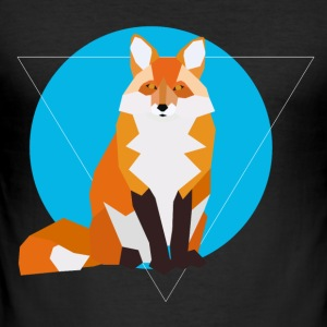 geometrische Fox - slim fit T-shirt