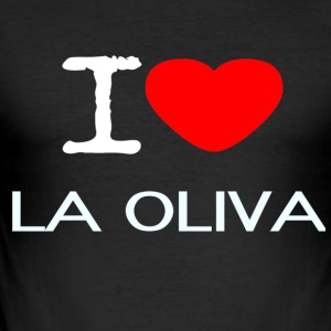 I LOVE LA OLIVA - Männer Slim Fit T-Shirt