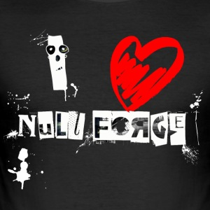 I love Null Forge - Männer Slim Fit T-Shirt