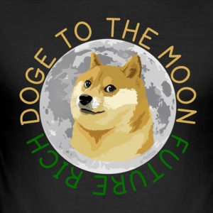 DOGE TO THE MOON - Men's Slim Fit T-Shirt