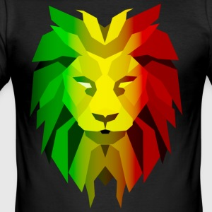 Rasta Lion - Men's Slim Fit T-Shirt
