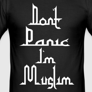 Don t Panic in Muslim - Men's Slim Fit T-Shirt