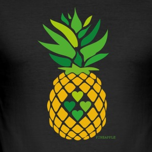 Love Pineapple - Men's Slim Fit T-Shirt