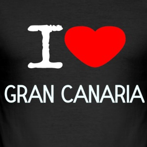 I LOVE GRAN CANARIA - Männer Slim Fit T-Shirt