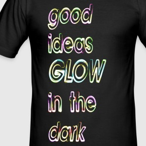 good ideas GLOW in the dark - Camiseta ajustada hombre