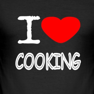 I LOVE COOKING - Men's Slim Fit T-Shirt