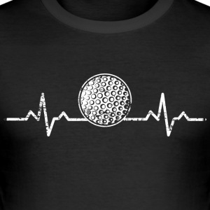 A heart for golf - Men's Slim Fit T-Shirt