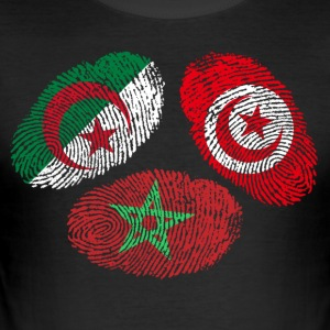 MAGHREB UNITED المغرب LOGO - Men's Slim Fit T-Shirt
