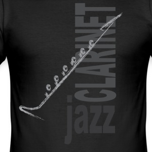 Jazz Klarinett - Slim Fit T-shirt herr