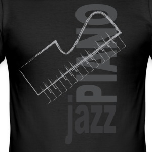 Jazz Piano - Slim Fit T-shirt herr