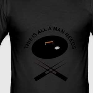 Grillsession for men - Männer Slim Fit T-Shirt
