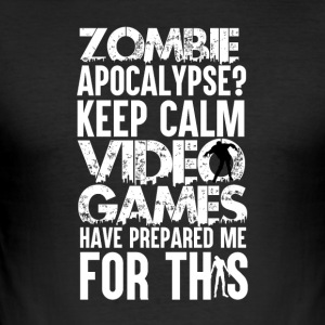 Zombie Apocalypse - Gamer - Slim Fit T-shirt herr
