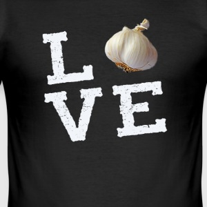 Garlic love Love garlic vampire smell f - Men's Slim Fit T-Shirt