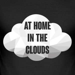 Hipster: At Home in the Clouds - Men's Slim Fit T-Shirt