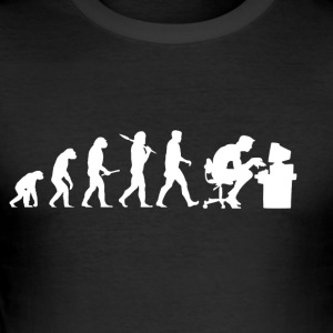 Evolution Computer Nerd! Nerd PC! IT! Technique! - Tee shirt près du corps Homme