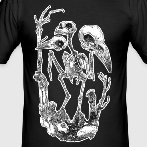 Vogelskelett Skullection - Männer Slim Fit T-Shirt