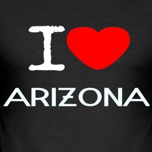 I LOVE ARIZONA - Slim Fit T-skjorte for menn