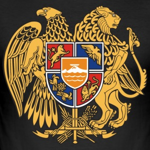 Armenia emblem - Slim Fit T-skjorte for menn