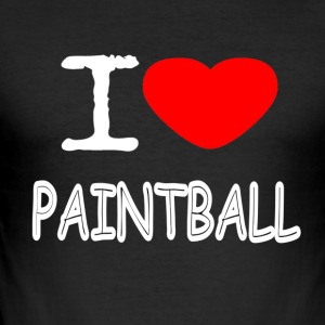 I LOVE PAINTBALL - Slim Fit T-skjorte for menn