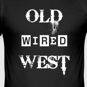 Old wired west White - Men's Slim Fit T-Shirt