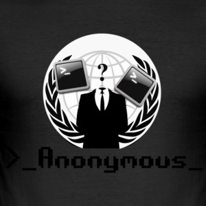 Anonymous - Men's Slim Fit T-Shirt