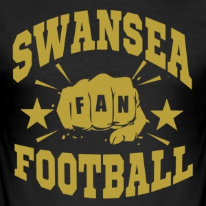 Swansea Football Fan - Slim Fit T-shirt herr