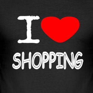 I LOVE SHOPPING - Männer Slim Fit T-Shirt