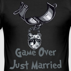 Game Over Just Married - Slim Fit T-skjorte for menn