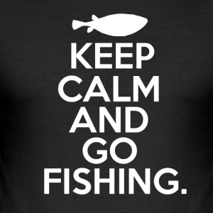 Keep Calm - Go Fishing - Men's Slim Fit T-Shirt
